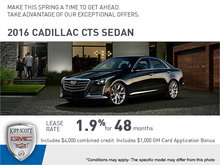 Save Big on the 2016 CTS Sedan!