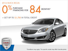 Get the 2016 Buick Regal Today!