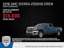 Save Big on the 2016 GMC Sierra 2500HD!
