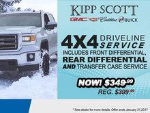 4X4 Driveline Service Special!