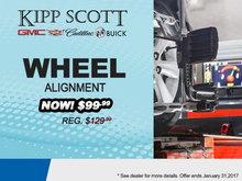 $99.99 Wheel Alignment Special