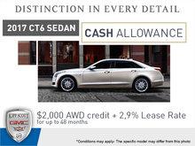 Save Big on the 2017 CT6 Sedan!
