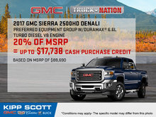 Save Big on the New 2017 GMC Sierra 2500HD!