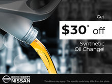 Get $30 Off a Synthetic Oil Change!