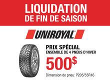 Promotion pneus d'hiver Uniroyal pour Nissan Sentra