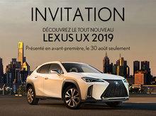 Découvrez le tout nouveau Lexus UX 2019