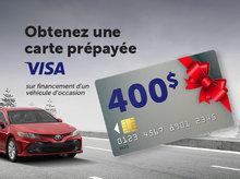 Obtenez une carte Visa prépayée de 400$