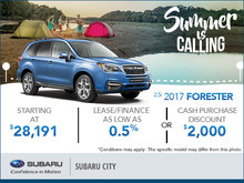 Save Big on the 2017 Subaru Forester