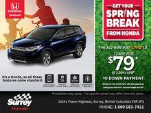 Get a Brand-New 2017 Honda CR-V Today!