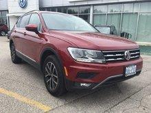 2018 Volkswagen Tiguan Comfortline 2.0T 8sp at w/Tip 4M Demo