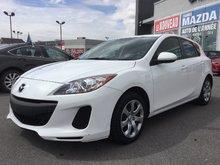 Mazda Mazda3 ***VENDU***, GX, GARANTIE JUSQU'EN 2017 2012 JAMAIS ACCIDENTÉ, PNEUS D'HIVER DISPONIBLE
