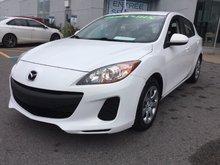 Mazda Mazda3 **RÉSERVÉ**, GX,  DÉMARREUR À DISTANCE, A/C 2012 JAMAIS ACCIDENTÉ, UN SEUL PROPRIÉTAIRE