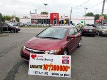 Honda Civic LX 2006 GARANTIE 10 ANS 200,000KM
