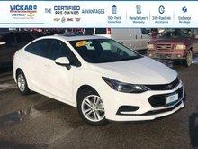 2017 Chevrolet Cruze LT  - Bluetooth -  SiriusXM - $120.75 B/W