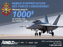 Rabais pour les membres des forces armées Canadiennes