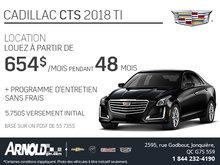 Obtenez le Cadillac CTS 2018 aujourd'hui!