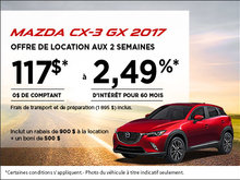 La Mazda CX-3 GX 2017 en rabais!