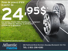 Pose de pneus d'été à partir de 24,95$