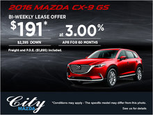 Drive Home the 2016 Mazda CX-9 GS Today!