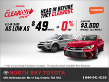 The Toyota 2017 Clearout Event