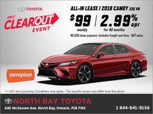 Get the 2018 Toyota Camry!