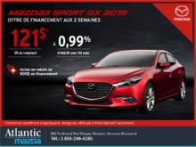 Obtenez la Mazda3 Sport 2018 aujourd'hui!