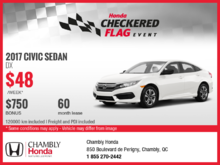 Lease the New 2017 Honda Civic!