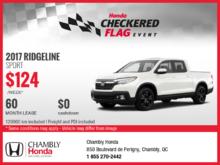 Save on the New 2017 Honda Ridgeline Sport