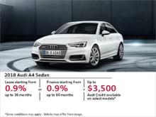 Get the Audi A4 Sedan Today