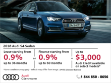 Get the 2018 Audi S4 today!