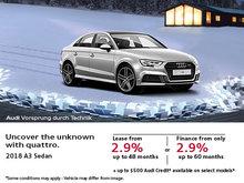 Get the 2018 Audi A3 Sedan today!