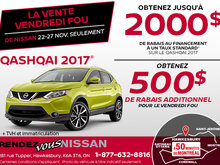 Vendredi fou - Nissan Qashqai 2017 en rabais