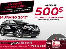 Vendredi fou - Nissan Murano 2017 en rabais