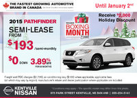 Nissan - Get the all-new 2015 Nissan Pathfinder this holiday season