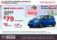 Nissan - Save on the all-new 2015 Nissan Versa Note now