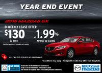 Mazda - Lease the 2015 Mazda6 GX for $130