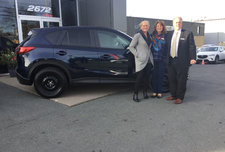 Tracy and her new CX-5!