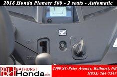 Honda Pioneer 500 2 seats 2018