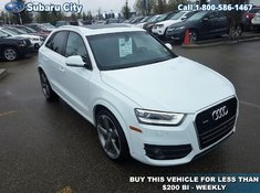 2015 Audi Q3 Technik,AWD,LEATHER,SUNROOF,NAVIGATION,AIR,TILT,CRUISE,PW,PL,LOCAL TRADE, CARPROOF IS CLEAN!!!