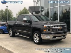 2015 Chevrolet Silverado 1500 LTZ,LEATHER,SUNROOF,4X4,TRAILER PKG,DRIVER ALERT PKG,NAVIGATION,HEATED AND COOLED SEATS,LOCAL TRADE,CARPROOF IS CLEAN!!!!