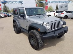2015 Jeep Wrangler Sport,LIFT,BIG TIRES,AIR,TILT,CRUISE,CD,PW,PL,VERY CLEAN, LOOK AT THE KMS!!!