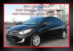 2013 Hyundai Accent GLS, AUTOMATIQUE, TOIT, 14789 KM !!!