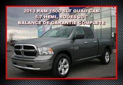 2013 Dodge RAM 1500 SLT 4X4 QUAD CAB, ROUES 20'',  GARANTIE COMPLÈTE ROUES DE 20''