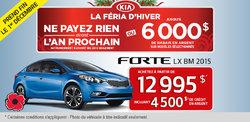 La nouvelle Kia Forte 2015 à 12 995$