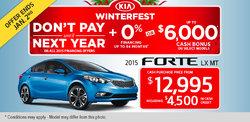 2015 Kia Forte LX MT - Own it for $12,995