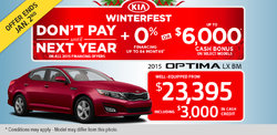 The 2015 Kia Optima - Get it well-equipped from $23,395