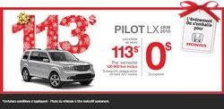 Louez le Honda Pilot LX 4RM 2015 à 113$ par semaine