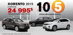 Obtenez un Kia Sorento 2015 démonstrateur
