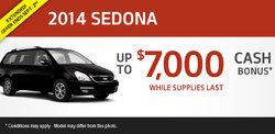 Save up to $7,000 on a new 2014 Kia Sedona!