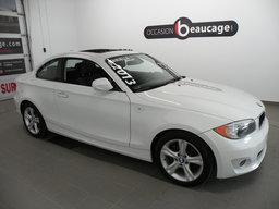 BMW 1 Series 2013 128I / COUPE / TOIT OUVRANT / BAS KILOMÉTRAGE / A/C / CUIR / SIÈGES CHAUFFANTS / SONAR DE RECUL